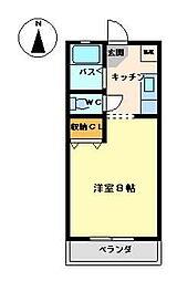 セントニコラスマンションズ[204号室]の間取り