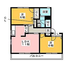 Famille御笠川[1階]の間取り