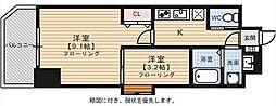 ウインステージ平尾[701号室]の間取り