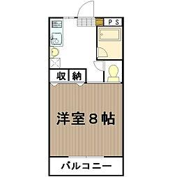 中森マンションA[111号室]の間取り