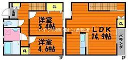 [テラスハウス] 岡山県倉敷市片島町 の賃貸【/】の間取り