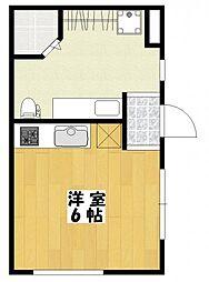 高石神アパートメント[2階]の間取り