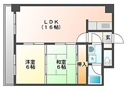 薬師寺ビルヂング[7階]の間取り