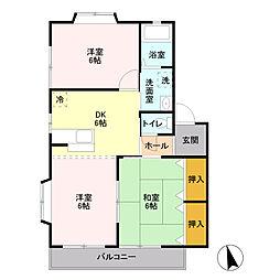 スワロー A/B[1階]の間取り