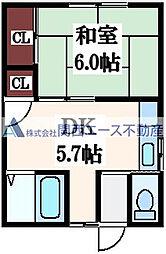 ハイツ澤田[1階]の間取り