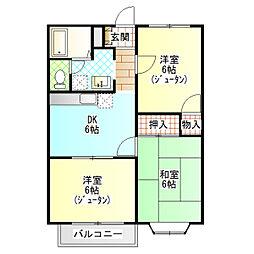 星崎アパート3号棟[322号室]の間取り