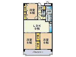 福岡県福岡市東区筥松1丁目の賃貸マンションの間取り