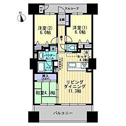 アルファタワー桜町[1203号室]の間取り