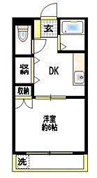 コーポピース[1階]の間取り