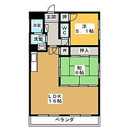 メゾン・ド・楠[4階]の間取り