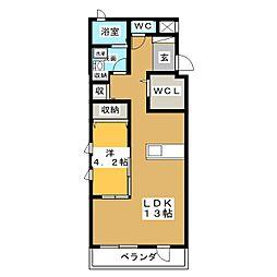 フォレスト・ワン[3階]の間取り