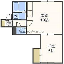グレースハイツ[2階]の間取り