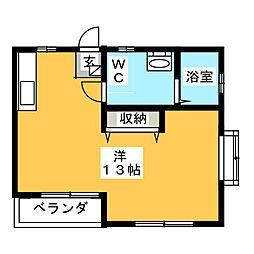 メゾニティ小笹[1階]の間取り