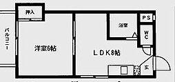 スコーレ向野II[1階]の間取り