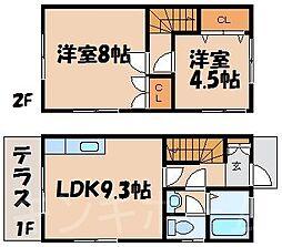 [テラスハウス] 広島県広島市安芸区矢野東4丁目 の賃貸【/】の間取り