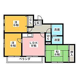 エンポリアム関[6階]の間取り