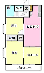 フローラKIKU B[205    号室]の間取り