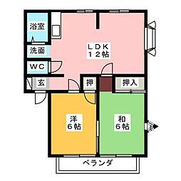 サンビレッジ・住吉A棟[1階]の間取り