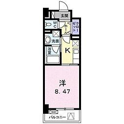 高松琴平電気鉄道琴平線 三条駅 徒歩11分の賃貸マンション 3階1Kの間取り