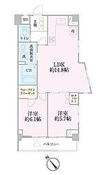 中新井サンライトマンション[3階]の間取り
