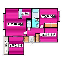 北海道札幌市北区篠路十条3丁目の賃貸マンションの間取り