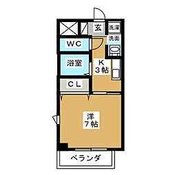 arte izumi[6階]の間取り