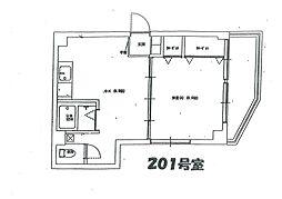 高井マンション[201号室]の間取り