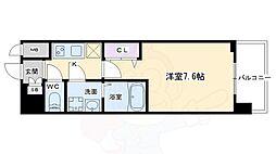 クリスタルグランツ京都西大路 3階1Kの間取り