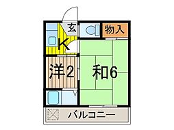 コーポ飯塚[3階]の間取り