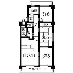 ファミ−ル小幡[4階]の間取り