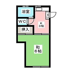 三都コーポ[1階]の間取り