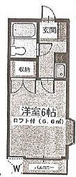 ララ検見川[201号室]の間取り