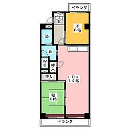 グランデール桜[3階]の間取り
