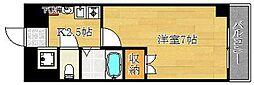 エステムコート三宮山手Ⅱソアーレ[2階]の間取り