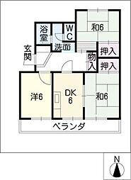 ハイツカトウ(1F)[1階]の間取り
