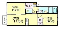 シャーメゾン空港南[1階]の間取り