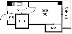 東京都文京区水道2丁目の賃貸マンションの間取り