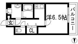 カーサデフローレス[3階]の間取り