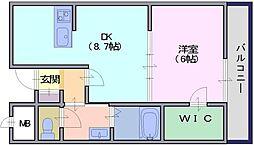 アンソレイエ[107号室]の間取り