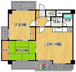 ビブレマンション箱崎[5階]の間取り