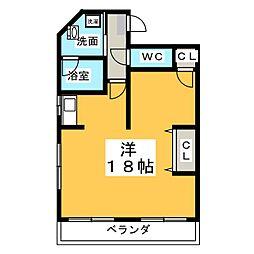 コーポ福島[4階]の間取り