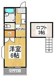 リブハウス柏A[2階]の間取り