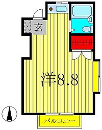 サンライフ小杉II[201号室]の間取り