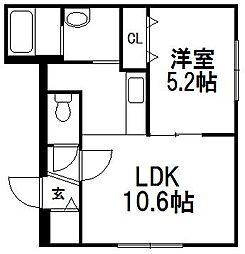 仮)グランメール 平岸4−1[102号室]の間取り