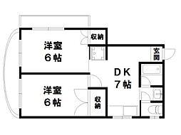 カインドリーミヤコ[3階]の間取り