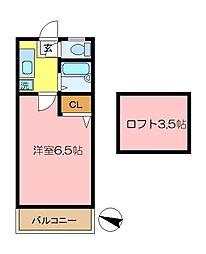 メゾンドマキ[203号室]の間取り