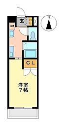 ブールヴァールYASHIRODAI[4階]の間取り