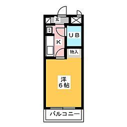 持田レジデンス 1階1Kの間取り