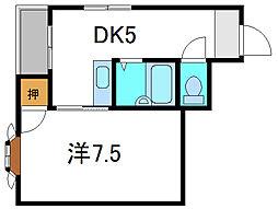 ハイ・インペリアル[3階]の間取り