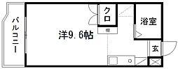 アップル第3マンション[202号室]の間取り